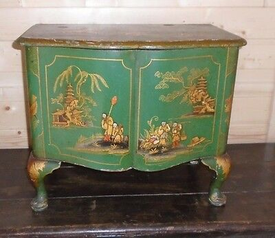 Fine 19th Century Antique Chinese Lacquer Sewing Box Country House Look Stunning