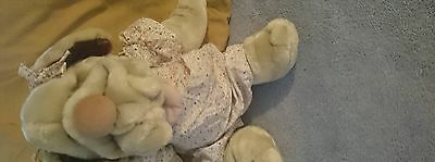 Vintage 80's Wrinkles Girl Dog Puppet Mint with Tags Ganz