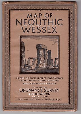 Ordnance Survey Map of Neolithic Wessex