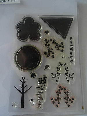 Build a Tree Clear Craft Stamps Set