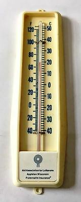 Vintage Plastic Advertising Thermometer Aid Association For Lutherans Appleton,