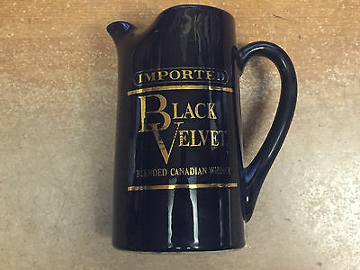 1974 Black Velvet Blended Canadian Whisky Advertising Bar Water Pitcher