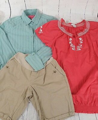 3 PCS Maternity Lot Work Business Clothes Tank Tops Shorts Small Size Shirts
