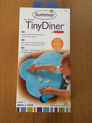 Tiny Diner Baby Food Catcher Non Slip Magic Suction Feeding Place Mat Bib