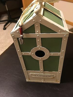 "Marjolein Bastin 10"" GUEST HOUSE Birdhouse Metal Hallmark Collection"