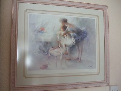 Two Very Pretty Large Glass Framed Pictures Limited Edition Prints Ballet Scenes