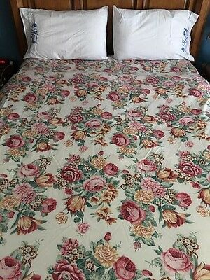 Vintage Queen Flat Sheet By Thomaston