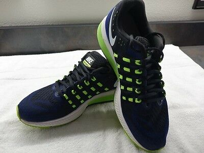 NIKE ZOOM Vomero ll Men's Black Blue Running Shoes Size 9D