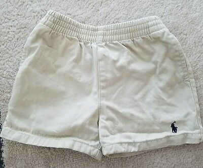 Polo Ralph Lauren Khaki Tan Shorts 9 Months Infants Toddlers Boys Girls