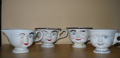 Vintage Bailey's Irish Cream His Hers Yum Winking Faces Cups Mug Limited Edition