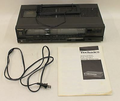 TECHNICS SA-290 AM/FM Stereo Receiver Vintage Quartz Digital Synthesizer US 120V
