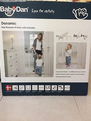 Babydan Danamic Pressure Fit Stair Gate Boxed With Instructions