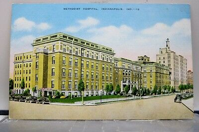 Indiana IN Methodist Hospital Indianapolis Postcard Old Vintage Card View Post