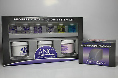ANC Professional Nail Dip System Kit with Dip N Curve Mold