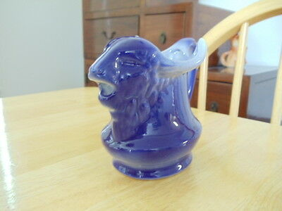 Bull/Cow Creamer Pitcher Navy Blue Royal Blue with Blue Stamp on Bottom