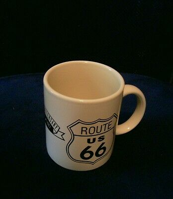 Route Us 66 Collectible Coffee Mug 70Th Anniversary Off White With Black