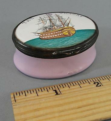 Antique Early 19thC, Admiral Nelson Ship HMS Victory, Battersea Enamel Box NR