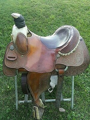 Billy Cook Basket Weave 15.5 inches Saddle