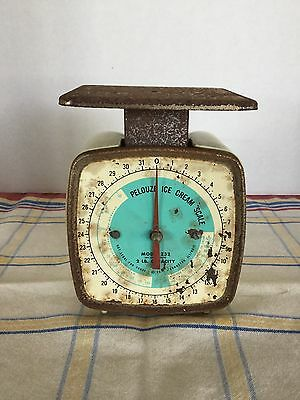 Vintage Pelouze 2 lb Ice Cream Scale Model Z32 Evanston, IL USA  Works!