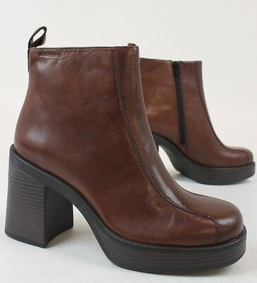 Vagabond Womens Grace Side Zip Ankle Boots Red Brown US 9.5 Euro 41 New