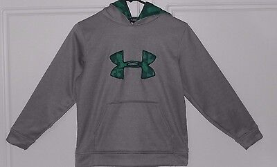 UNDER ARMOUR Boys GREY HOODIE Size YMD Youth M Excellent