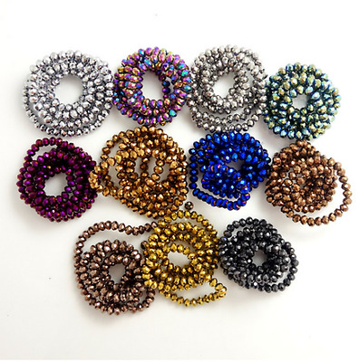 40 PCS 8 mm Rondelle faceted Crystal Glass Loose Spacer Beads Diy Jewelry Making