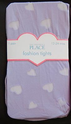 NEW Toddler Girls Tights size 12-24 months purple spring Easter SHIP FREE!