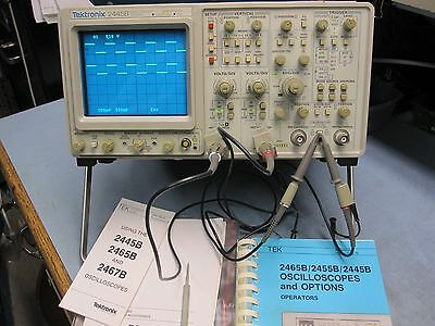 TEKTRONIX 2445B 200Mhz OSCILLOSCOPE,  Low Hours,  VERY NICE!!!