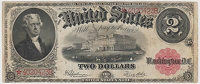 Series 1917 two dollar $2 note high grade star note