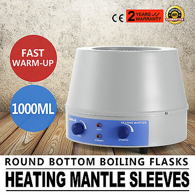 1000ml Thermostatic  Heating Mantle Sleeves Magnetic Stirrer Inner Lab