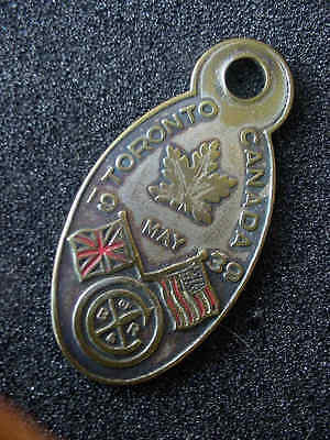 """May 1939 Toronto Canada """"royal Family Tour"""" Brass/bronze Watch? Fob"""