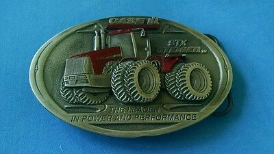 CASE STEIGER STX Enamel Pewter Farm Equipment Tractor LIMITED 2500 Belt Buckle