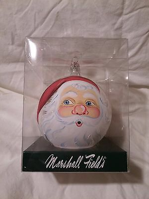 2005 Marshall Field's Christmas Santa Face Ornament  MIB