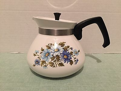 Vintage Corning Ware Chelsea 6 Cup Teapot- Very Pretty!