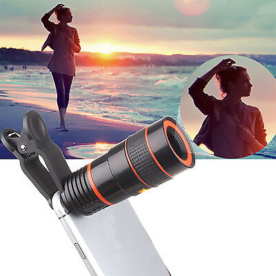 8X Zoom Optical Lens Telescope + Universal Clip For Camera Mobile Cell Phone CO