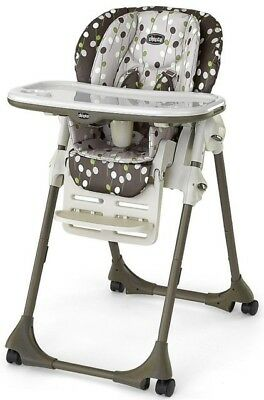 New Chicco Polly Double Phase High Chair Elm