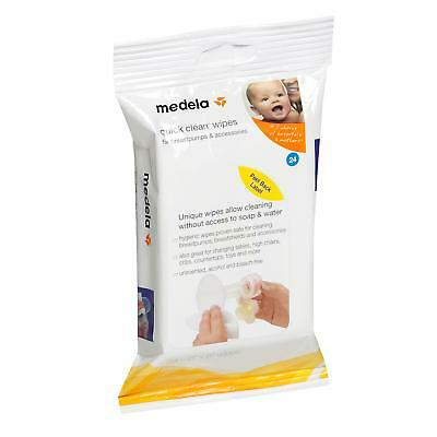 NEW Medela Quick Clean Breastpump and Accessory Wipes 24 wipes