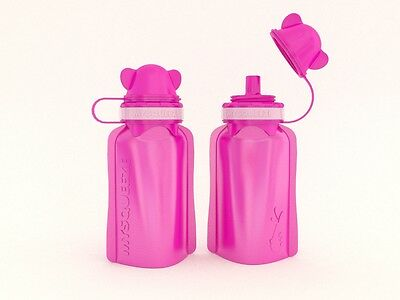 NEW My Squeeze 170mL Reusable Food Pouch- Pink Lid Pink Body