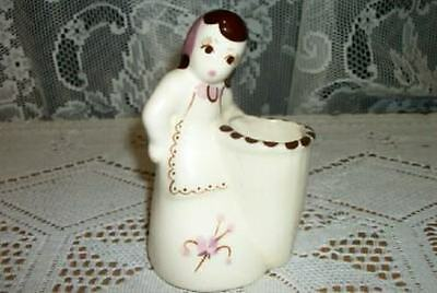 Vintage Chic California Pottery Weil Ware Small Pink Lady Vase Shabby