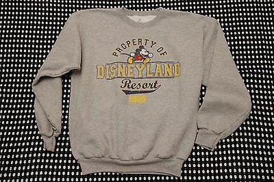 DISNEYLAND RESORT Disney Mickey Mouse Sweatshirt Size Medium Gray Cotton Blend