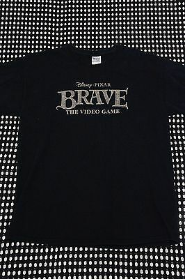 DISNEY/Pixar BRAVE The Video Game Promotional Promo Graphic Tee T-Shirt Size L