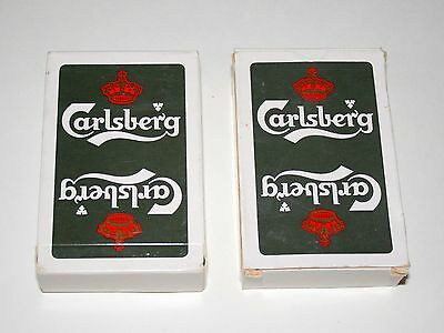 Set Of 2 Carlsberg Brewing Beer Deck Of Belgium Playing Cards New Sealed Box