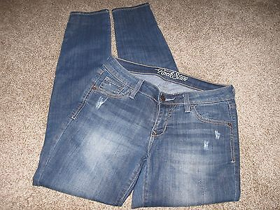 Women's Old Navy Rock Star Distressed Skinny Leg Stretch Jeans Size 6