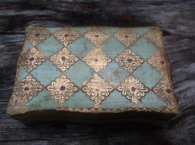 Vintage Italian Florentine Collectible Trinket Box/made In Italy