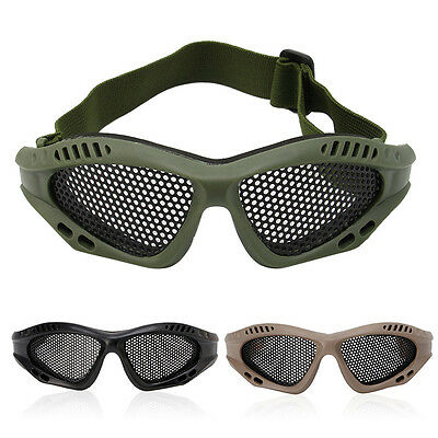 Tactical Metal Mesh Goggles Glasses CS Airsoft Paintball Eyes Protection Eyewear