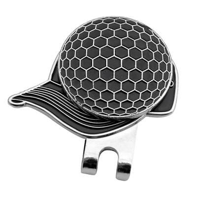 Black Magnetic Hat Clip with Golf Ball Marker - Suits Golf Cap or Visor