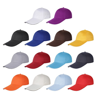 New Black Baseball Cap Snapback Hat Hip-Hop Adjustable boy Caps For Men Women
