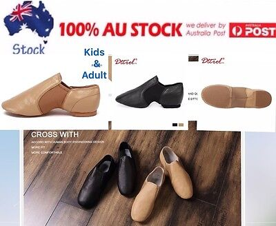 AU SUPPLIER NEW Leather Upper Quality Jazz Shoes child to adult
