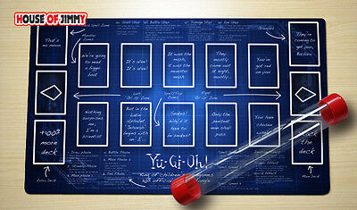 Yugioh Playmat Custom Made Play Mat Large Mouse Pad FREE TUBE C049