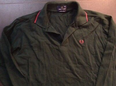 Fred Perry Polo Shirt Jersey Green Trikot Maglia Maillot Maglia